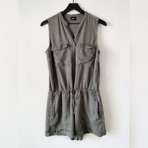Mossimo Utility Romper Jumpsuit Olive Green Large